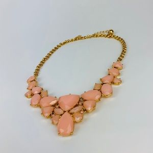 Kate Spade Pink GOLD PLATED Necklace Stones